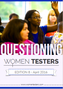 The cover page of the 8th edition of women testers e-magazine is designed by Abhimanyu Tadwalkar