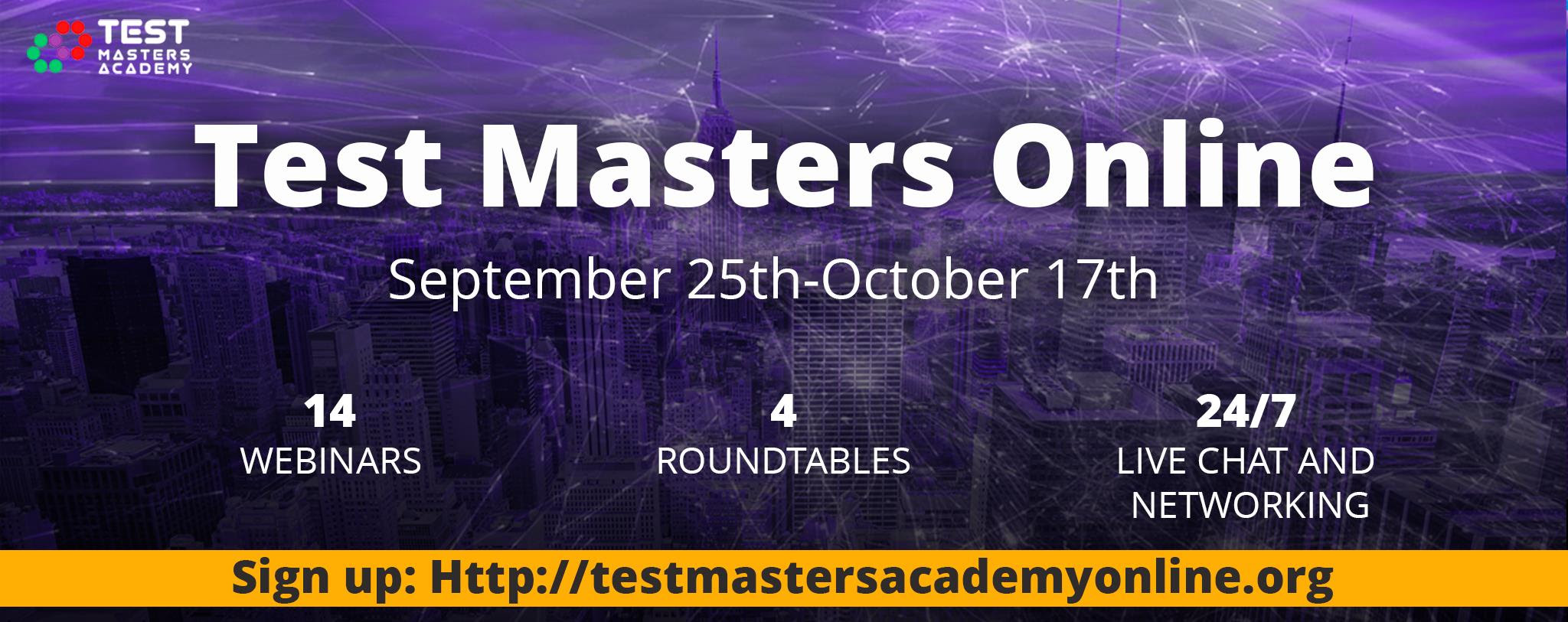 b14b8e9d6 Test Masters Academy starts free series of webinars and discussions on  hottest topics in software testing by renowned speakers and community  leaders.
